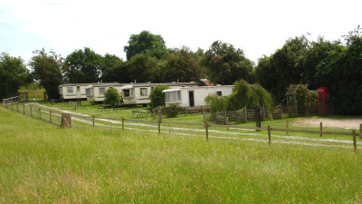 Holiday caravans at Park Grange